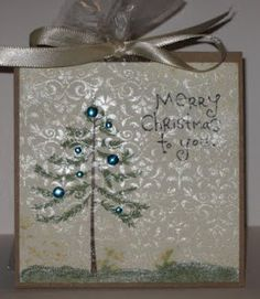 This ~n~ That with Sharon  Cute Christmas tree card.