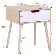 Diy Furniture Projects, Diy Wood Projects, Furniture Makeover, Wood Furniture, Living Room Furniture, Furniture Design, Walnut Bedside Table, Modern Bedside Table, End Tables With Drawers