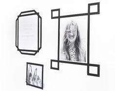 Masking tape as frames for artwork