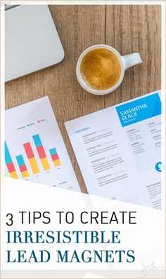 3 Tips to Create Irresistible Lead Magnets // Julie Stoian -- Email Marketing Strategy, Business Marketing, Content Marketing, Business Tips, Online Marketing, Social Media Marketing, Online Business, Digital Marketing, Marketing Ideas