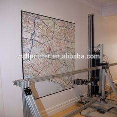 Wall inkjet printer to decal the wall with 3D pictures with Epson DX7 printhead #3dprintingbusiness