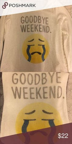 Emoji printed pullover Soft white graphic pullover. Worn once. Tagged brand for views. Wildfox Tops