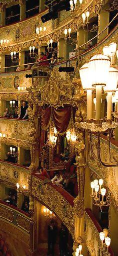 La Fenice Opera House ● Venice http://www.venice-italy-veneto.com/why-visit-venice.html