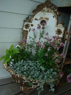 Wall Sink Garden Container 2 Vintage Series: Decorating with Wall Sinks