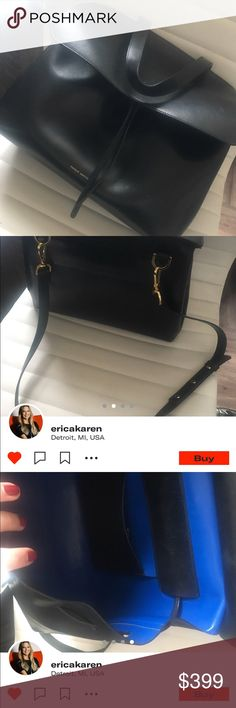 MANSUR GRAVRIEL LADY BAG LEGAL STEAL!! BOUGHT IN 2016. GOOD USED CONDITION. FITS MY MACBOOK IN IT. I BELIEVE THIS IS THE LARGER VERSION. THE LEATHER IS MADE TO RETAIN MARKS AS IT WEARS OVER TIME. RECEIVED TON OF COMPLIMENTS. COMES WITH DIST BAG AND TAGS...BOX IS TOO LARGE. Mansur Gavriel Bags Crossbody Bags