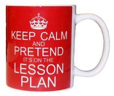 Keep Calm Coffee Mug as teacher retirement gift