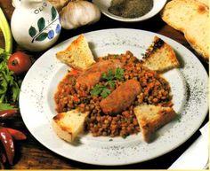 Lentils with Sausages   Peccando