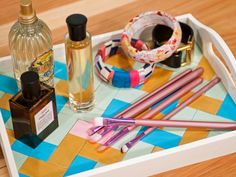 Great way to display perfumes and jewelry! More DIY Dorm Room Decor & Decorating Ideas from HGTV >> http://www.hgtv.com/design/make-and-celebrate/handmade/33-diy-dorm-room-ideas-pictures?soc=pinterest