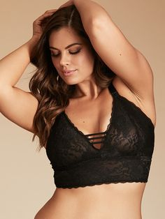 Gemma Crisscross Strappy Back Lace Bralette - Make way for our sweetest  sensation- our very f70311cd0