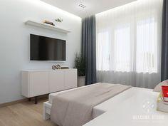 Двухкомнатная квартира в Москве «Голубая дымка». Спальня