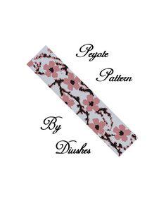 Peyote Beading pattern Bracelet Sakura. Even por DiushesPatterns