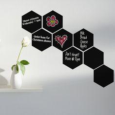 Tesselating Hexagons Chalkboard Wall Decal by WilsonGraphics, $26.00