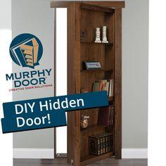 Hidden Bookshelf Door, Sliding Door Bookcase, Hidden Doors, Bookshelves, Secret Room Doors, Secret Rooms In Houses, Murphy Door, Hidden Closet, Panic Rooms