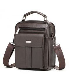 Buy Men's Genuine Leather Shoulder Messenger Handbag CrossBody Briefcase - Coffee - and More Fashion Bags at Affordable Prices. Brown Leather Wallet, Leather Clutch Bags, Black Leather Handbags, Leather Shoulder Bag, Crossbody Bags, Leather Wallets, Messenger Bag Men, Cross Body Handbags, Purses And Handbags