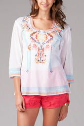 Mayetta Embroidered Tunic from Francesca's