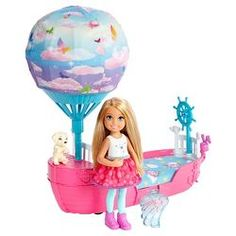 Barbie Dreamtopia Chelsea Doll and Magical Dreamboat Playset NEW Mattel Barbie, Ri Happy, Barbie Playsets, Barbie Sisters, Doll Clothes Barbie, Toy R, Fairy Dolls, Toy Store, Toys For Girls