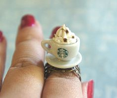 Starbucks Ring by jilliciouscharms ($8.50 USD) | http://www.luulla.com/product/60974/starbucks-ring