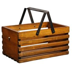 Cool vintage inspired market basket! Pet toy caddy or magazine caddy...?