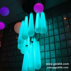 Charming LED Hanging Light With 16 Colors and remote control  http://goldlik.com/product-ceilinglight-GKH-110BT.html