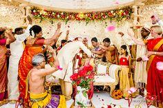 Tying of the thali at a Tamil Wedding.