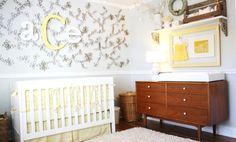 Quarto de bebê sustentável. Nada melhor do que ensinar isso aos pequeninos. A decoração de quarto de bebê sustentável ficou ecológica e barata, quarto barato.
