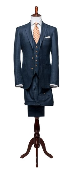 Articles of Style: Light Navy Hopsack