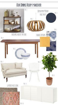 dining room design boards | My plans for the space: