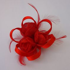 Red Fascinator, Women Tea Party Hat, Church Hat, Derby Hat, Fancy Hat, Red Hat, Tea Party Hat, wedding hat, British fascinator Red Fascinator, Tea Party Hats, Church Hats, Fancy Hats, Wedding Hats, Red Hats, Derby Hats, British, Christmas Ornaments