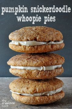 Everything you love about Snickerdoodles, and then some! Pumpkin Snickerdoodle Whoopie Pies | The Creekside Cook