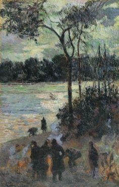 Paul Gauguin. Hoguera junto a una ría, 1886. Óleo sobre lienzo, 60 x 38 cm. Colección Carmen Thyssen-Bornemisza en depósito en el Museo Thyssen-Bornemisza, Madrid
