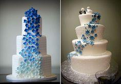 Az apró virádíszítés jól mutat a szabályos és a bohókás, összedobáltnak látszó tortán is.