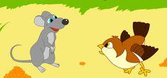 Мышь и воробей.
