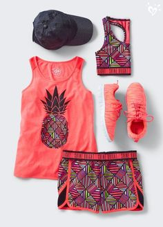 Marathon Running Gear: 3 Essential Items for Training & Races Active Outfits For Girls – Girls' Gym Outfits Sporty Outfits, Athletic Outfits, Summer Outfits, Dance Outfits, Girl Outfits, Fashion Outfits, Fashion Trends, Tween Mode, Estilo Fitness