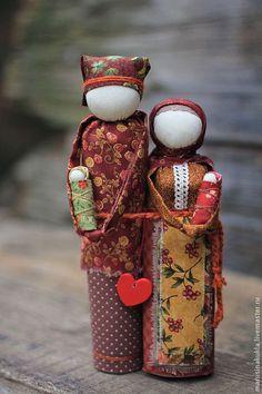 """Народные куклы ручной работы. Ярмарка Мастеров - ручная работа """"Неразлучники""""- семейный оберег. Handmade."""