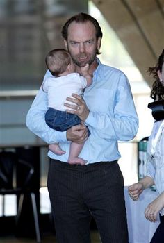 Hugo Weaving holding Eden Morris Voiceless, The Fund For Animals, hosts its annual grants and awards ceremony at Sydn