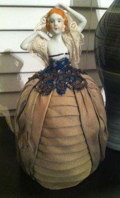 Antique Pin Cushion Porcelain Doll   eBay