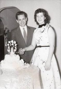 Charles Manson and Rosalie Jean Willis at their 1955 wedding.: