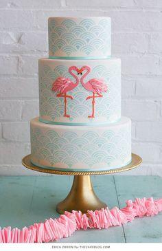 Flamingo Cake | by Erica OBrien forFlamingo Cake | by Erica OBrien forTheCakeBlog.com