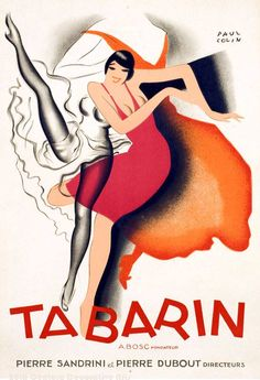 """A Paul Colin lithograph for the cabaret """"Tabarin"""" circa 1928."""