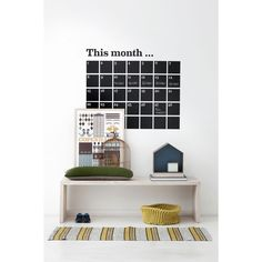 ferm living wall sticker shop for www wallstickers fra stil Diy Calendario, Home Office Accessories, Wall Planner, Monthly Planner, Sweet Home, Hallway Designs, Home Organisation, House Doctor, Danish Design