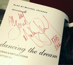 """Michael Jackson Autographed Dancing The Dream H C Book from 1992 
