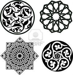 Patrón de ornamento Islámica