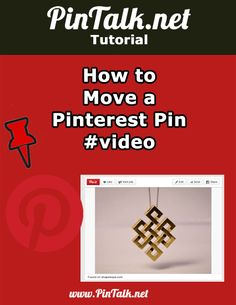How to Move a Pinterest Pin Hey Pinners! Have you struggled with trying to move a Pinterest Pin from one board to another? I see readers searching blog posts for information on how to move Pinterest Pins and boards in my website statistics. I also see that pins about moving Pinterest Pins are my most …