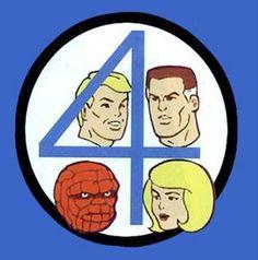 Fantastic Four - Hanna Barbera TV Series Cartoon Cartoon, Superhero Cartoon, Retro Cartoons, Old Cartoons, Vintage Cartoon, Classic Cartoons, Cartoon Shows, Happy Cartoon, Vintage Comics