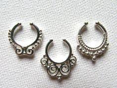 Fake Septum Ring SetFake Nose RingFake Septum Ring by IndieGems2