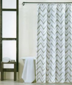 Domain 100 Percent Cotton Shower Curtain Chevron Gray And White 72 Inch By  72. Bathroom ShowersShower CurtainsZig ZagChevron