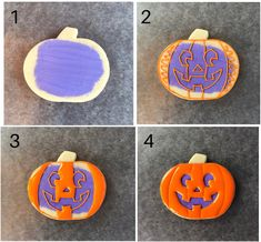 Get the full step by step tutorial for this easy halloween jack-olantern cookie. #halloweencookiesdecorated #halloweenpartyideas #halloweenpartysnacks #halloweenpartytreats #halloween Halloween Party Treats, Halloween Cookies Decorated, Halloween Cookie Cutters, Ghost Cookies, Cat Cookies, Cookies For Kids, Halloween Jack, Easy Halloween, Cookie Tutorials
