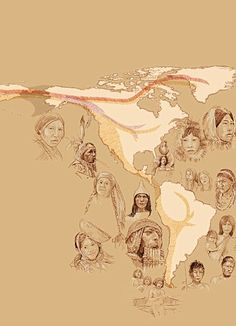 Article on how Native Americans arrived in Three great migrations across land bridge from Siberia 15,000 years ago