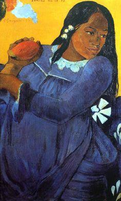 Paul Gauguin - Tahiti - La Femme au Mango - (1892)