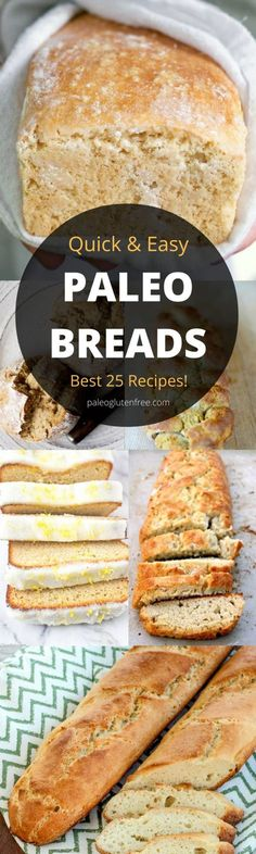 The best, most delicious PALEO Bread recipes! Easy crusty gluten free bread. Low carb almond flour paleo bread recipes. Homemade bread recipes. Quick gluten free bread that tastes better than real!!